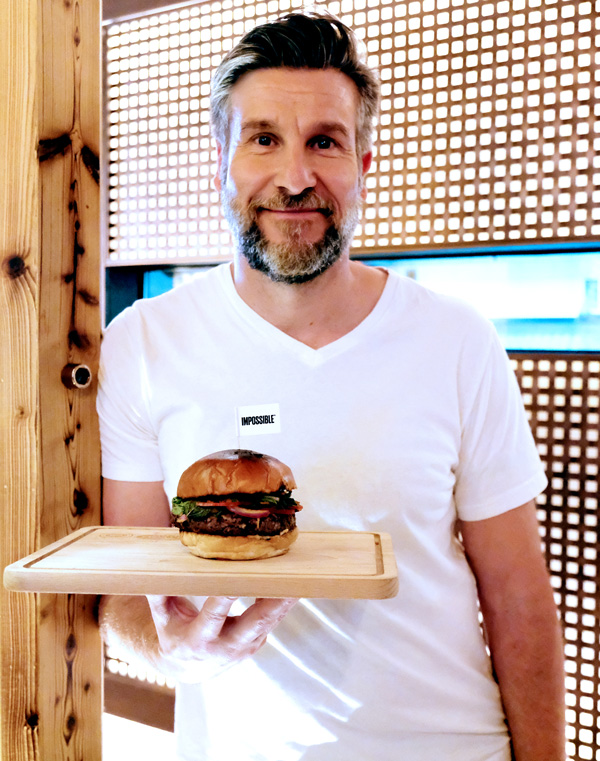 Chef Uwe Opocensky's Impossible Thai Burger is one of Beef & Liberty's most popular items