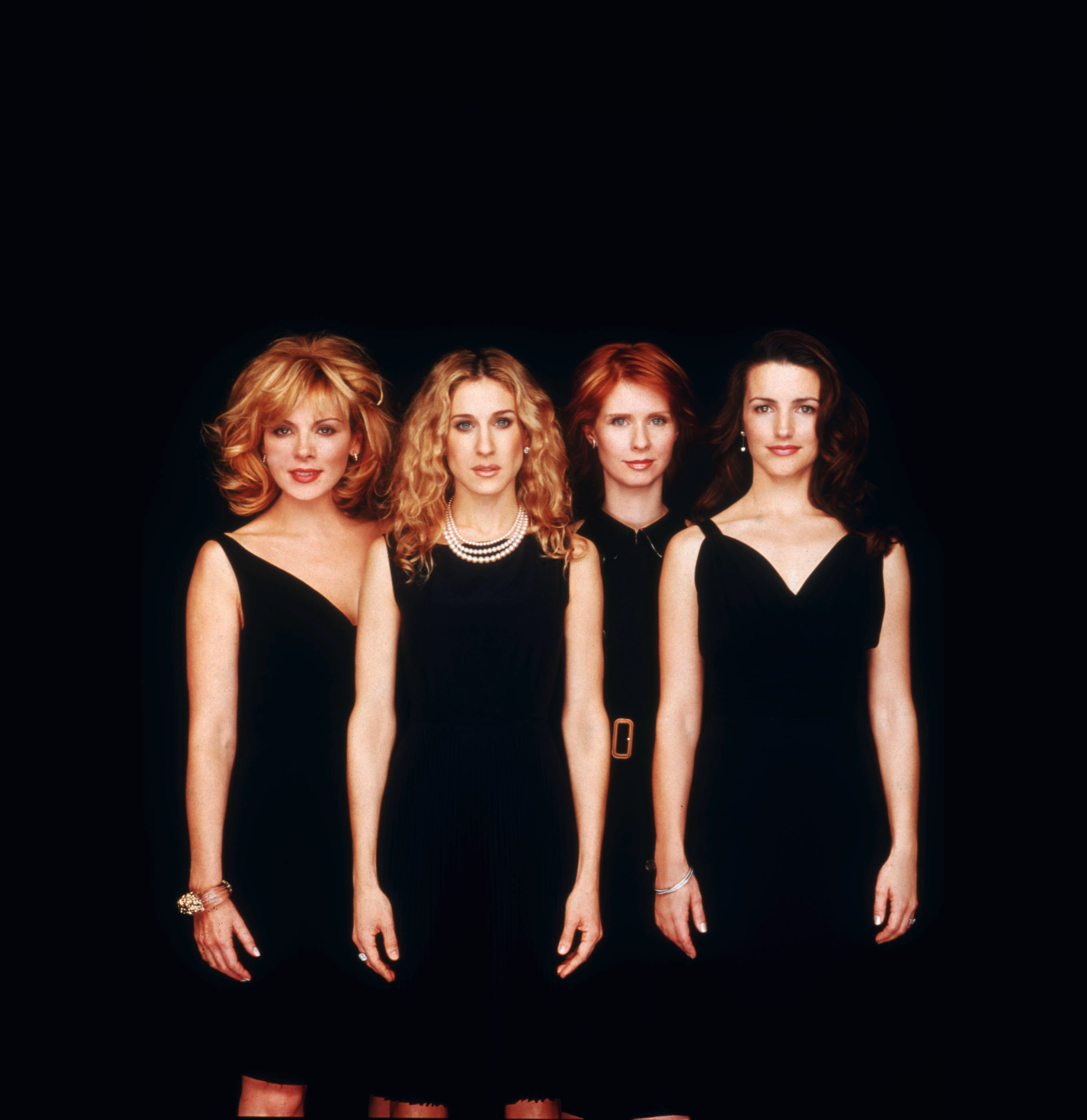 From left to right: Kim Cattrall as Samantha; Sarah Jessica Parker as Carrie; Cynthia Nixon as Miranda; Kristin Davis as Charlotte (photo: Getty Images)