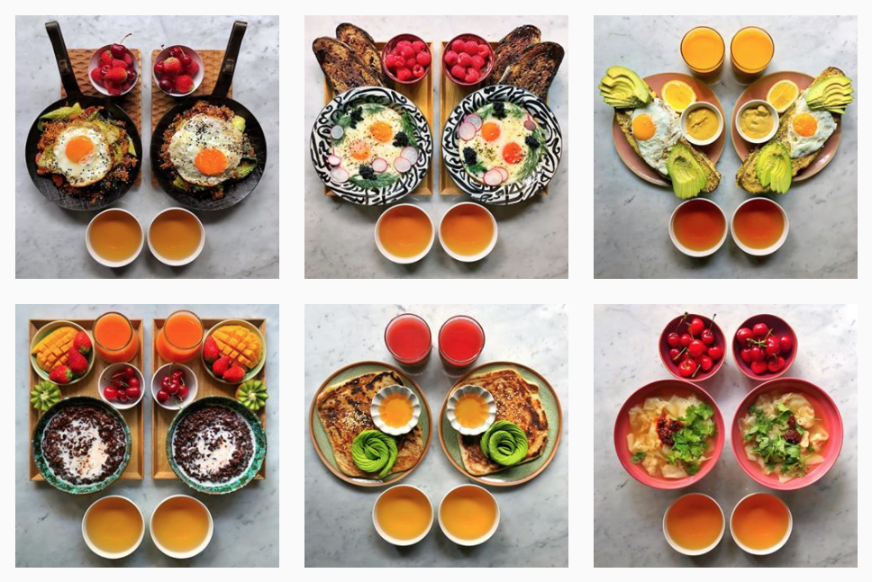 Michael Zee has been cooking and posting his and his husband's symmetrical breakfasts for more than five years (photo: @symmetrybreakfast on Instagram)