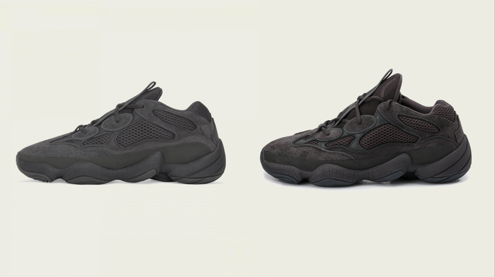 A comparison between the 'Utility Black' and 'Shadow Black.' Which do you like better?