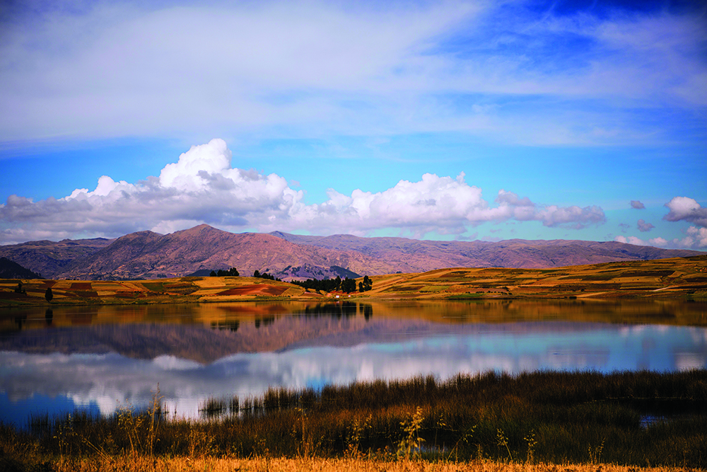 The train takes you through one gorgeous Peruvian landscape after another