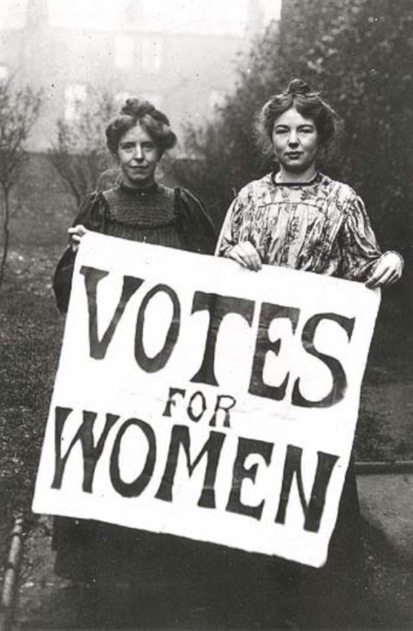 Annie Kenney and Christabel Pankhurst, two prominent Suffragettes and members of the Women's Social and Political Union