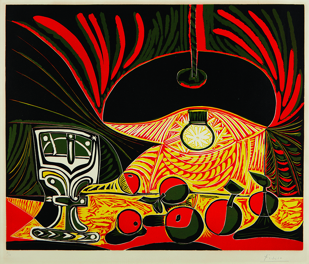 Auction house Phillips sold this work by Pablo Picasso, Still Life with Glass Under the Lamp, to a bidder on Artsy for US$250,000