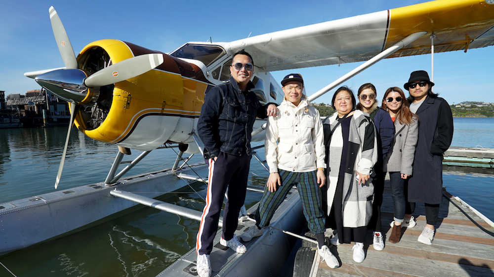 The Hong Kong press crew battles jet lag to soar high above the bay