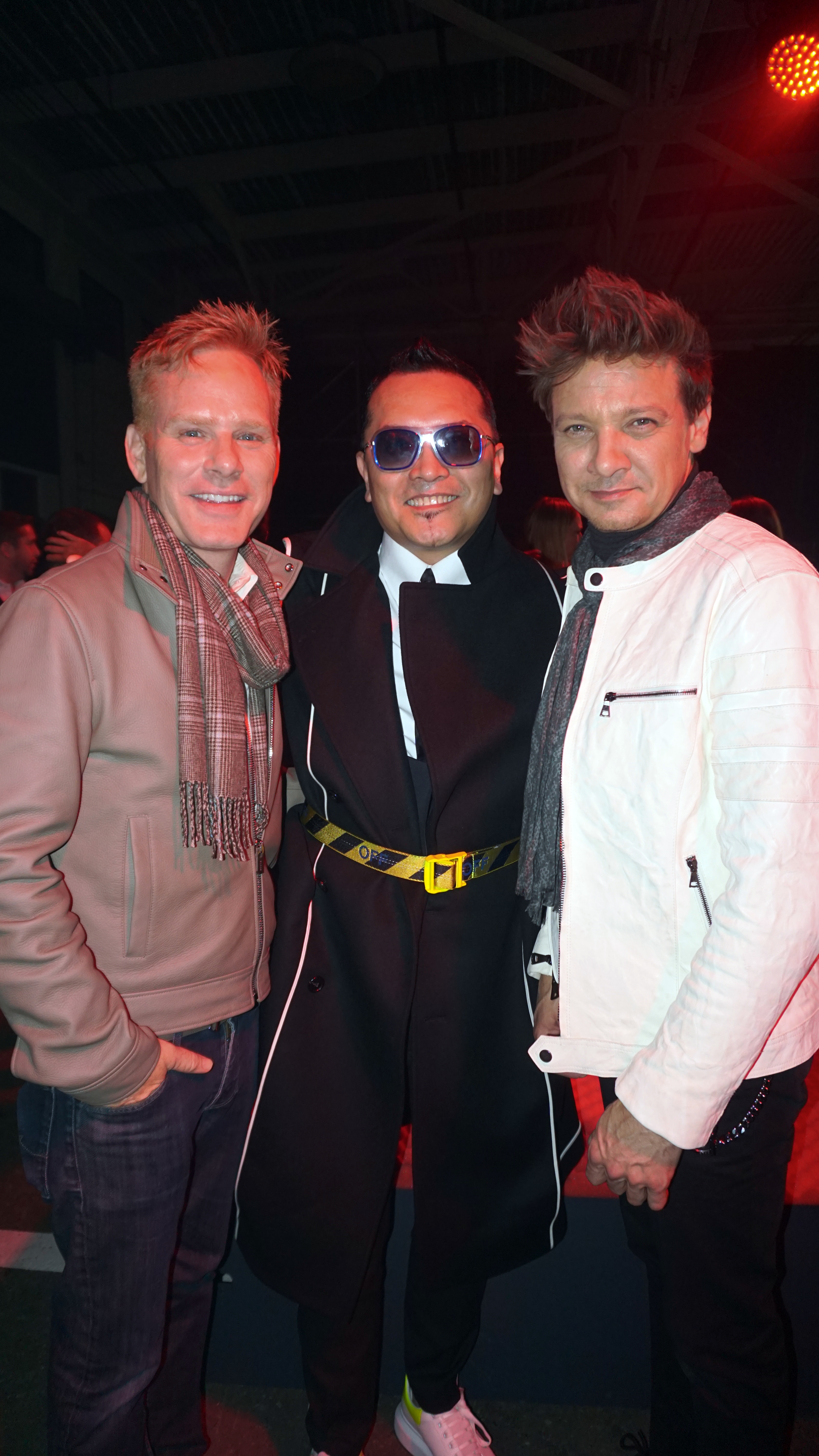 Gordon hangs out with dear old friends Kristoffer Winters and Jeremy Renner at the star-studded Cartier party, naturally