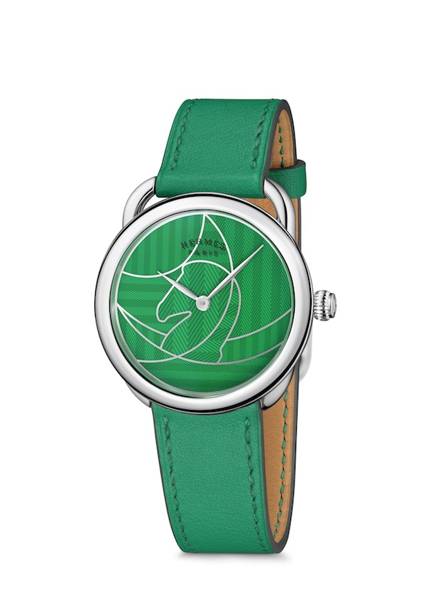 Arceau Casaque watch in green