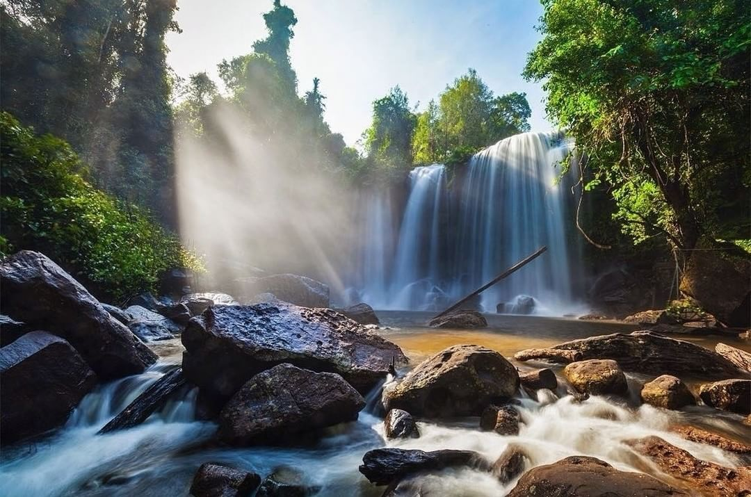 Phnom Kulen National Park combines the country's stunning nature and its historical past