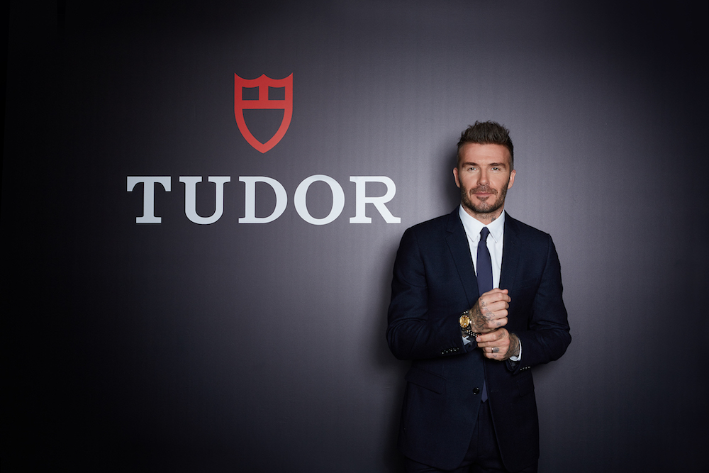 David Beckham at the Tudor cocktail party in Hong Kong