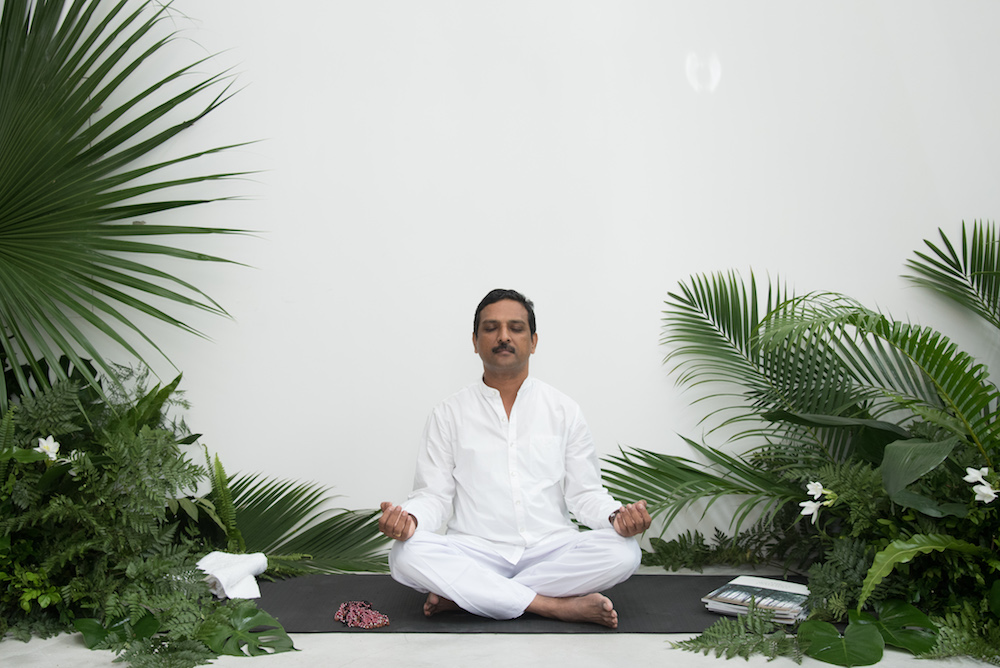 Resident Ayurvedic consultant Dr. Prasanth at COMO Shambhala Estate in Bali