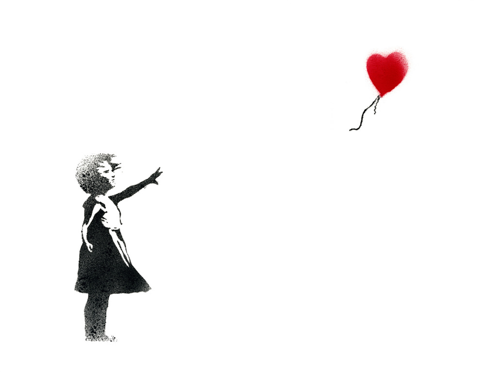 Banksy's Girl With Balloon was voted the UK's best-loved work of art in 2017 and first appeared on a wall in London.