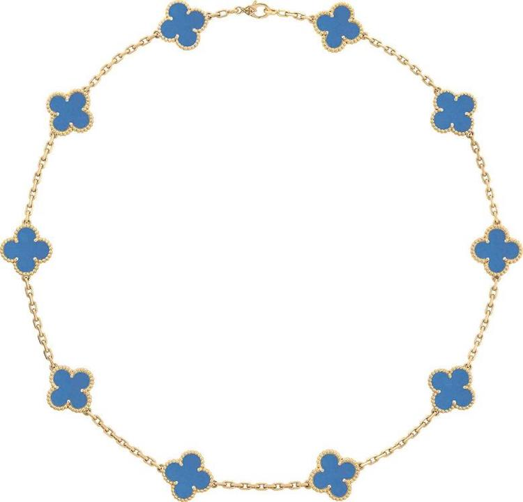Van Cleef & Arpels Blue Agate 10-motif necklace