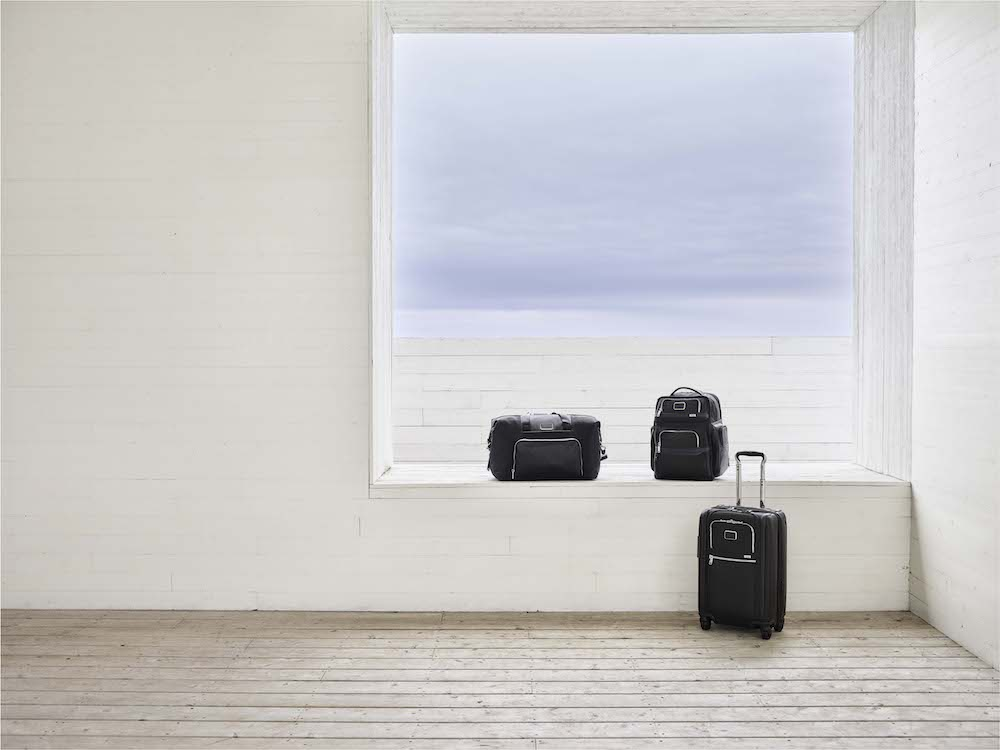 Some of the sleek products from TUMI's latest Alpha 3 collection. Photo: Courtesy of TUMI.