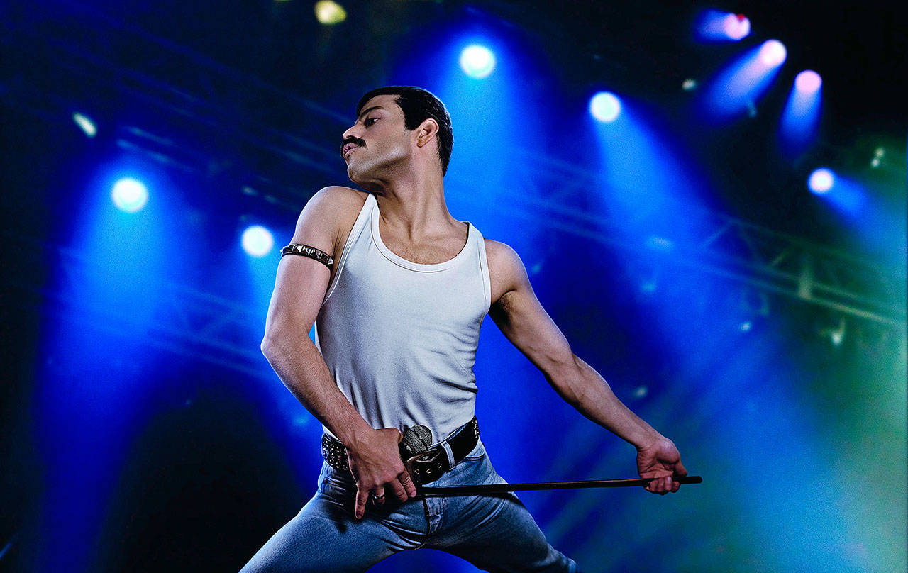 Remi Malek in Bohemian Rhapsody, the Freddy mercury biopic that garnered him a best actor nomination