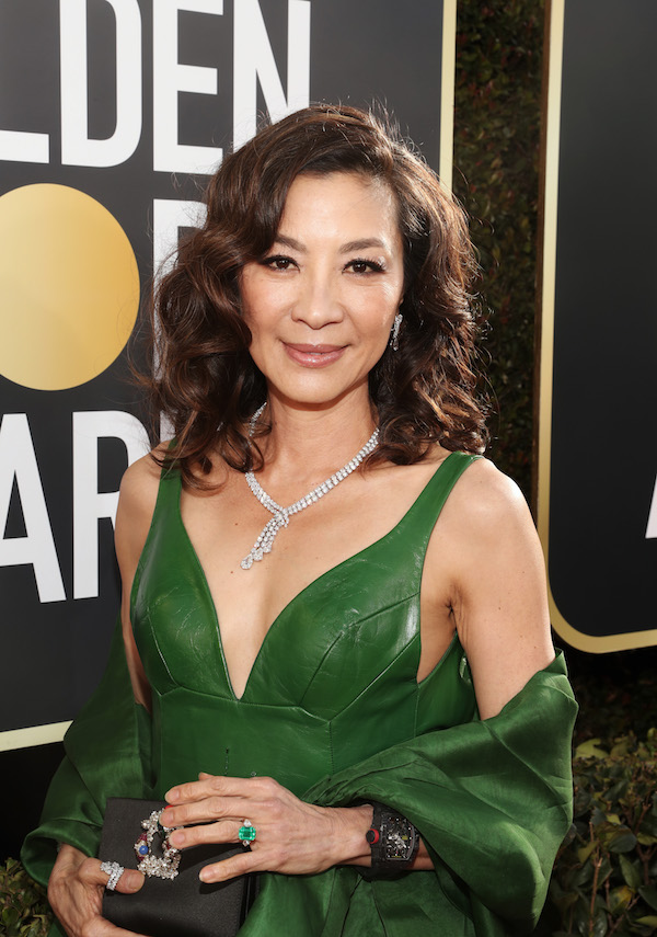 Michelle Yeoh at the 2019 Golden Globe Awards (Courtesy of Getty Images)