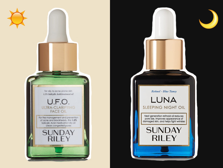 The U.F.O Ultra-Clarifying Face Oil and the Luna Sleeping Night Oil