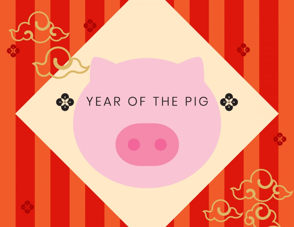 This pig year starts on the 5th of February, 2019 and ends on the 24th of January, 2020.