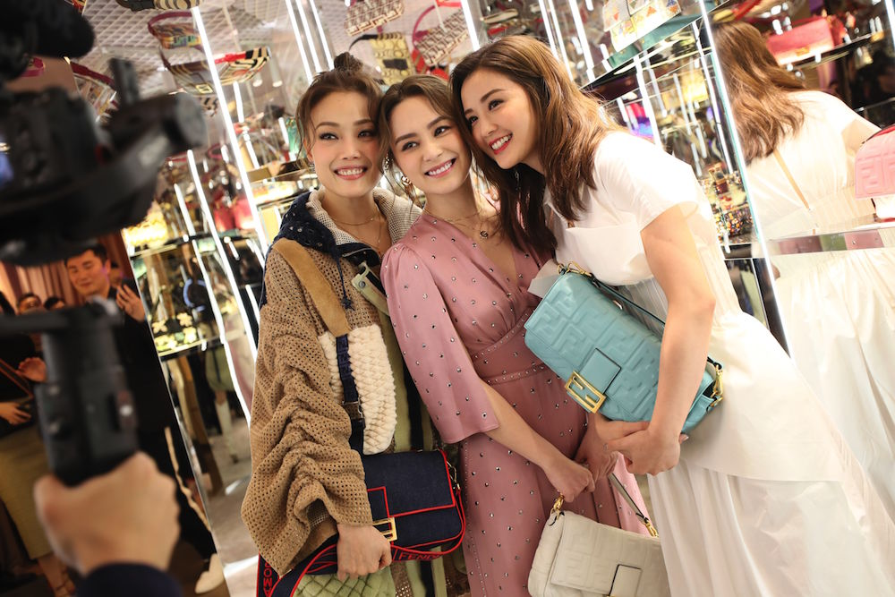(from left to right): Joey Yung, Gillian Chung, Charlene Choi