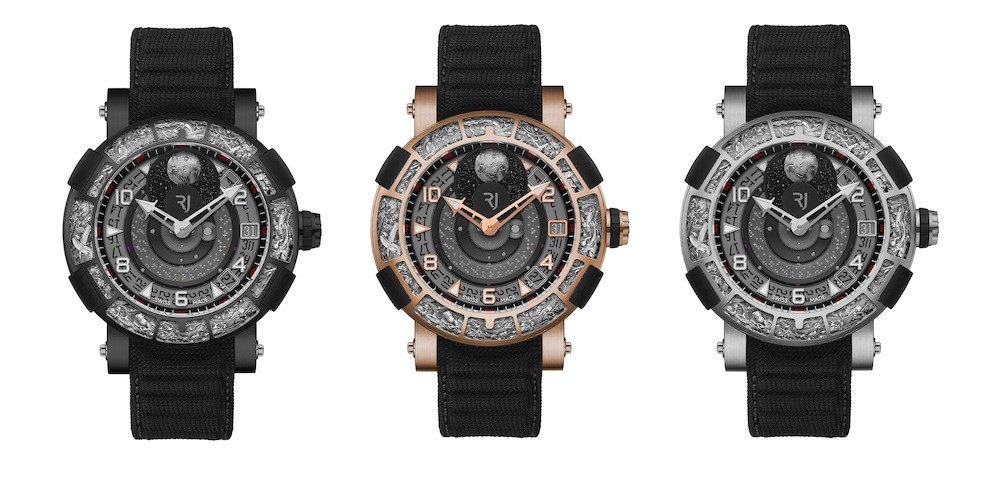 The RJ Arraw 6919 Collection in titanium, gold and ceramic (picture courtesy of RJ Watches)