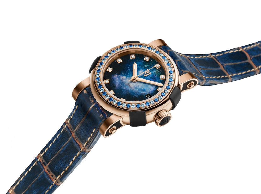 The RJ ARRAW Star Twist Collection's Gold Blue Magellanic Cloud (picture courtesy of RJ Watches)
