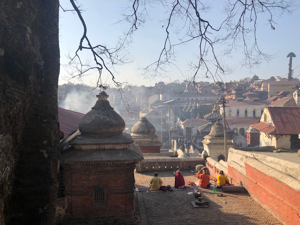 View of the Pashupatinath Hindu Complex in Kathmandu