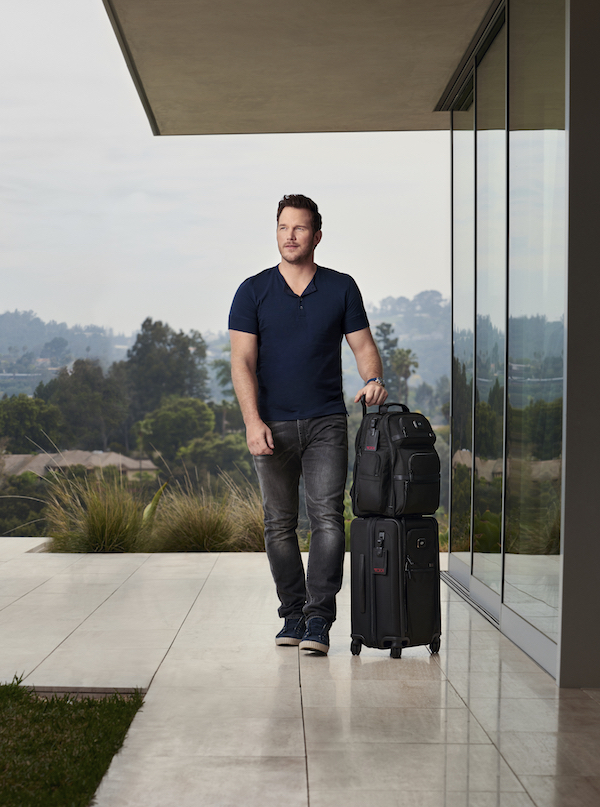 Actor Chris Pratt stars in the new TUMI campaign. Photo: TUMI