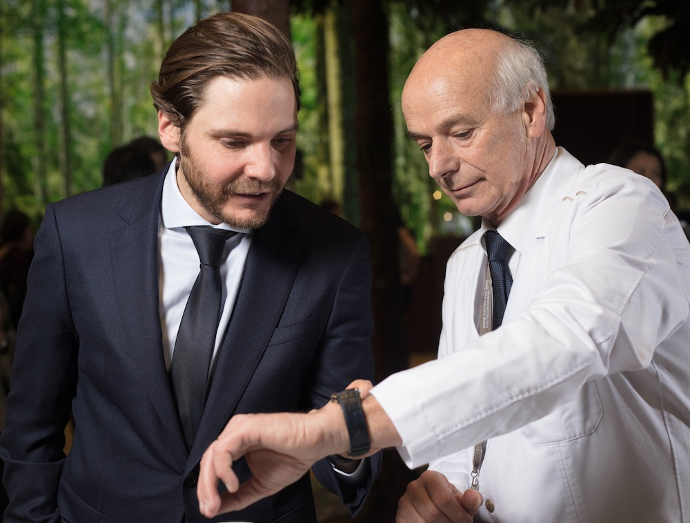 Daniel Bruehl with Master Watchmaker