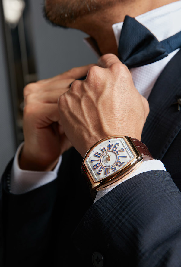 The new Vanguard Crazy Hours Asia Exclusive in Rose Gold (picture courtesy of FRANCK MULLER)
