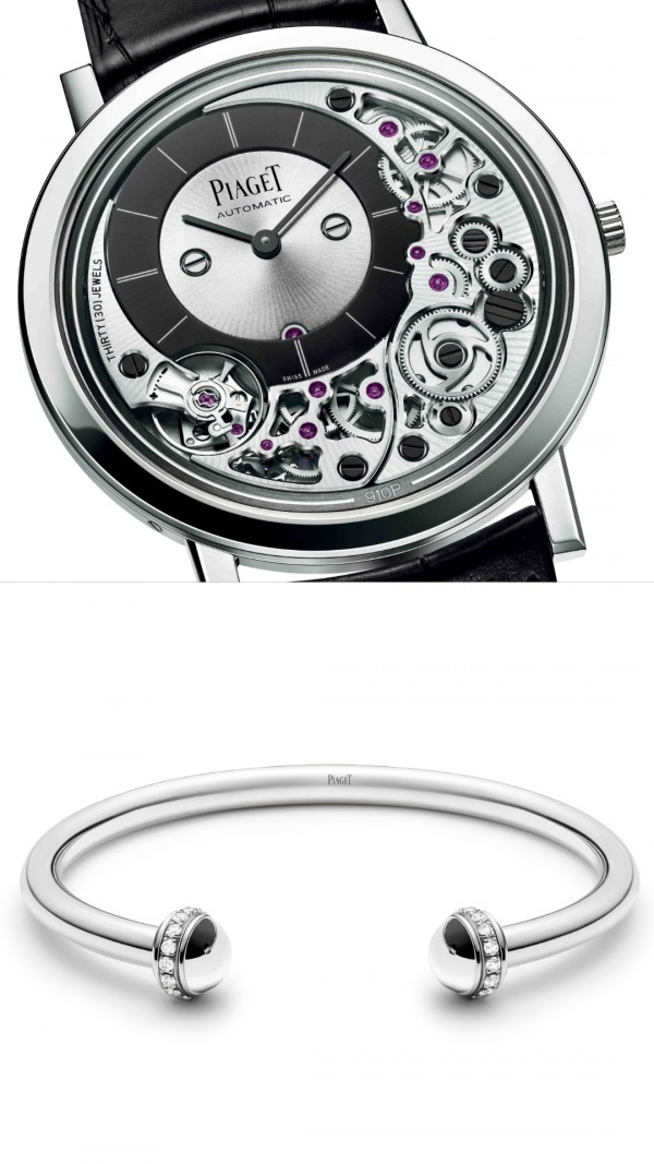 Some of the styles of watches and bracelets you can get for your father at Piaget (picture courtesy of Piaget)