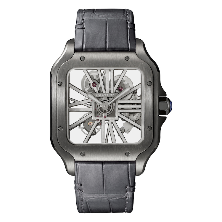 One of the new Santos de Cartier watches (pictures courtesy of Cartier)