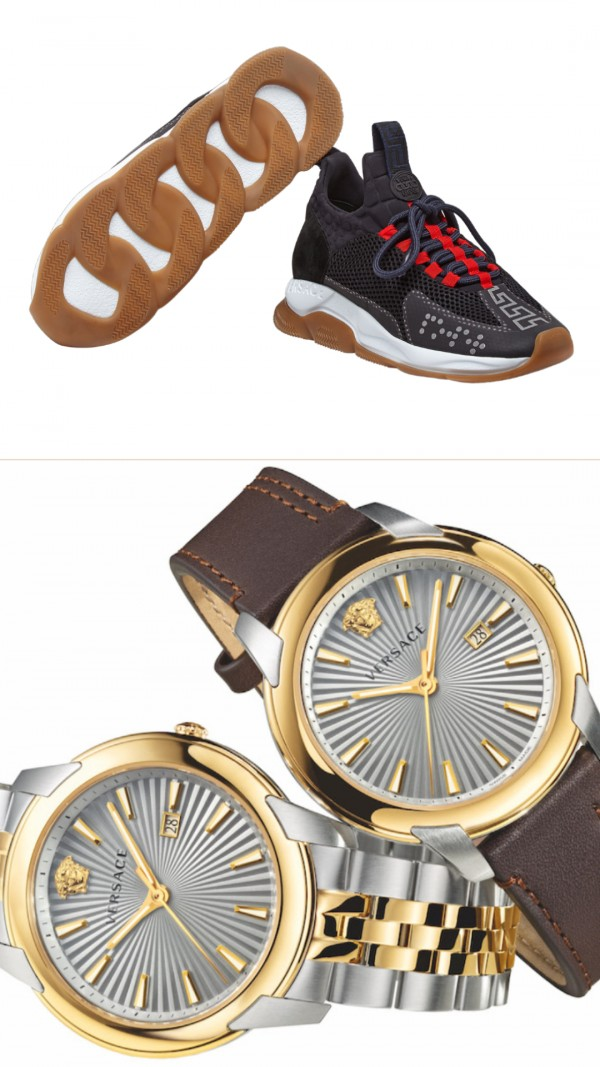Versace's new sneakers and watch available for Father's Day (pictures courtesy of Versace)