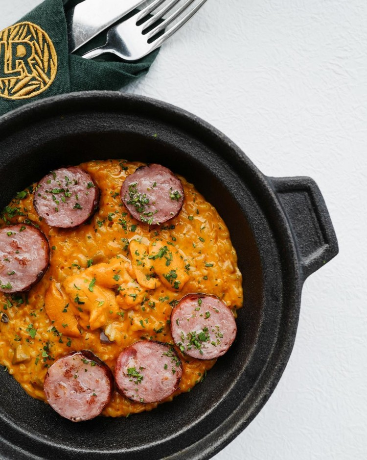 La Rambla's Parmesan Rice with Hokkaido Uni and Iberico Sausage (photo credits: La Rambla via Instagram)