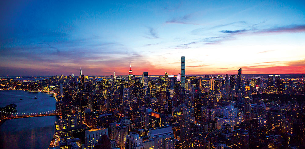 A view of New York City (Credit: DBOX FOR CIM GROUP/MACKLOWE PROPERTIES)