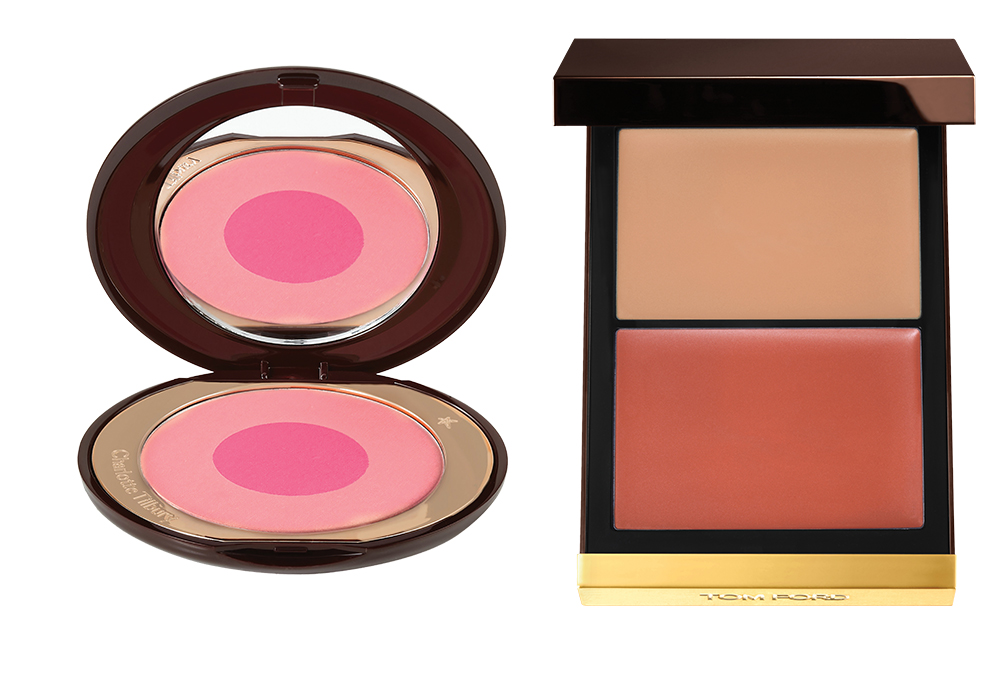 Cheek to Chic Swish & Pop Blusher in Love is the Drug from Charlotte Tilbury at Net-a-Porter, Scintillate Shade and Illuminate Cheeks from Tom Ford