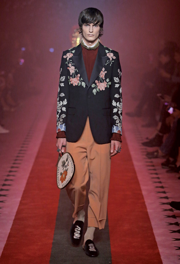 A male model launches Gucci's spring/summer collection for women