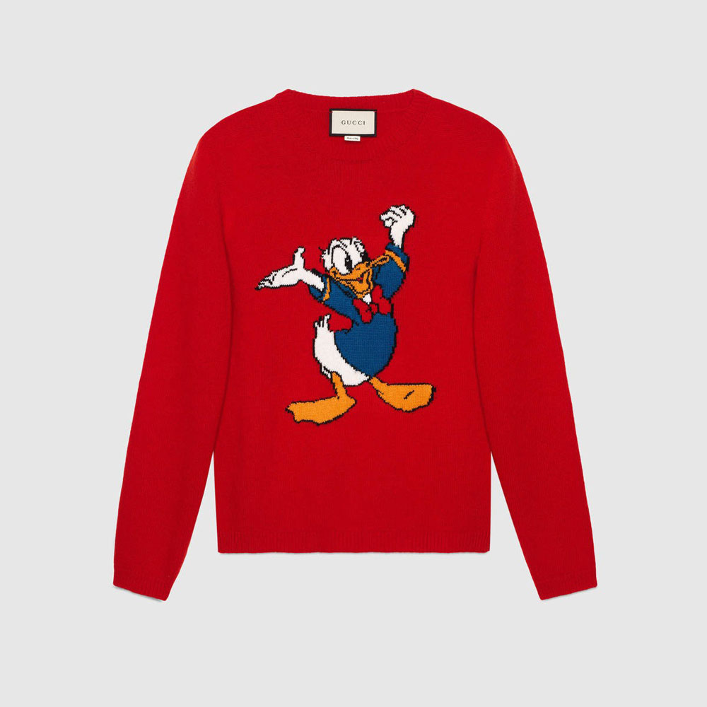 A Donald Duck crewneck sweater