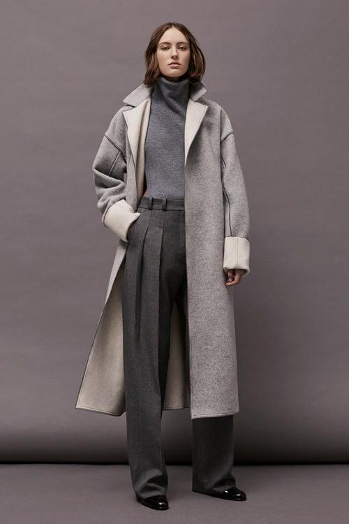 A classic look from the new collection, channeling London's overcast weather