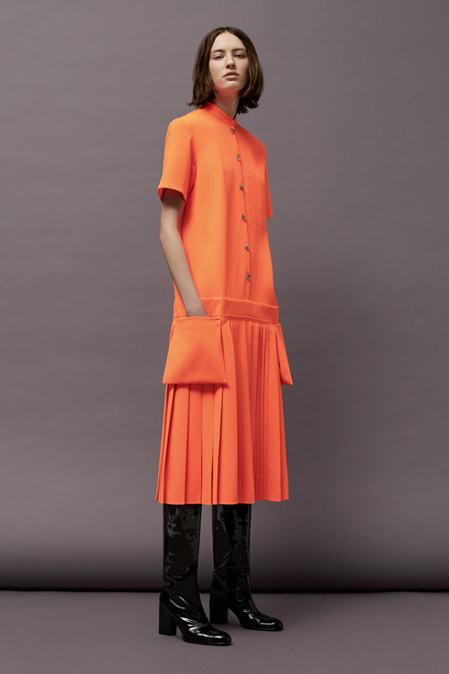 Bright colours stood out amongst the muted tones of the collection