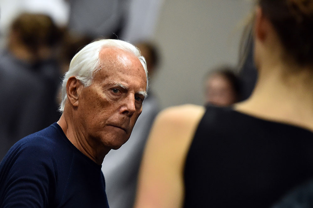 Italian designer Giorgio Armani's use of fur in his fashions could become a thing of the past (Credit: AFP Photo/ Gabriel Bouys