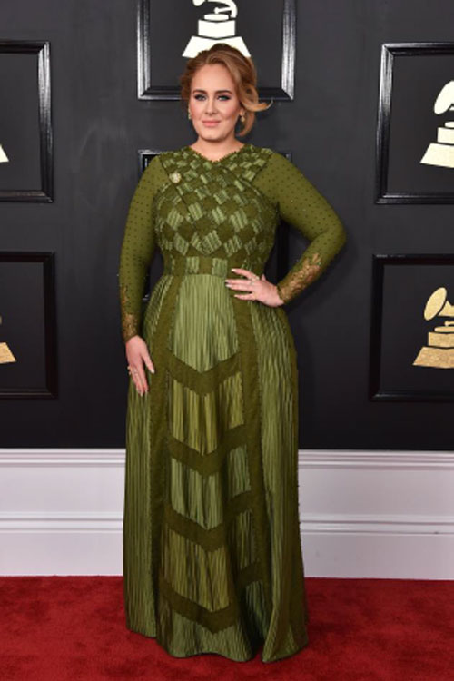 Adele arrives at the Grammys (photo c/o AFP)