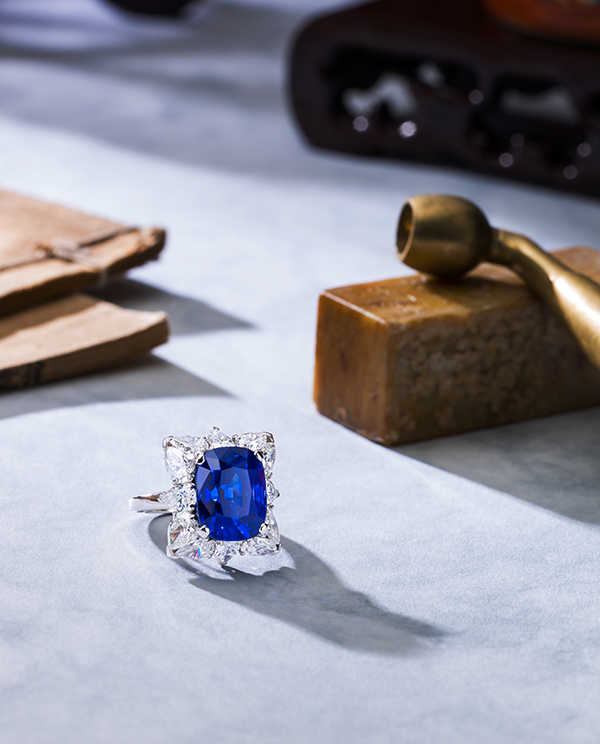 A rare 10.21-carat Kashmir sapphire and diamond ring by Mouawad