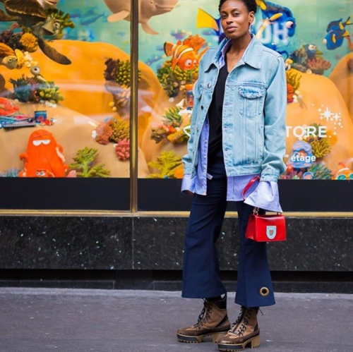 These chunky hiking boots are a perfect fit for the urban jungle (photo c/o @Styledumonde)