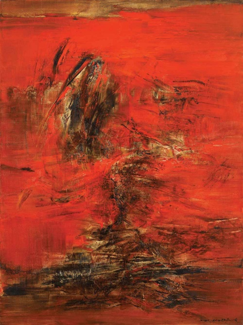 Zao Wou-ki's Untitled from De Sarthe Gallery
