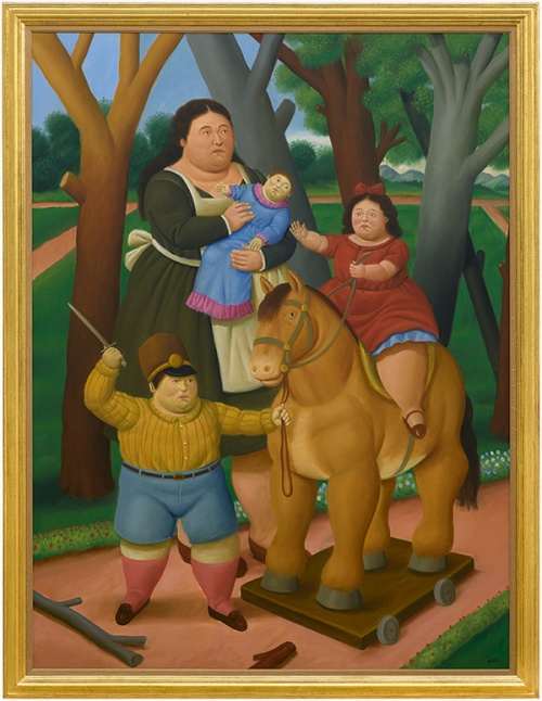 At The Park by Fernando Botero (Courtesy: Galerie Gmurzynska)