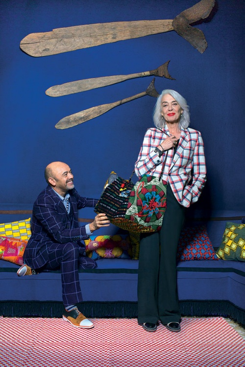 Christian Louboutin and Valerie Schlumberger