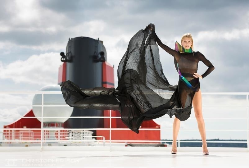 Cunard's Transatlantic Fashion Show aboard the Queen Mary 2  (Credit: PR News Foto / Cunard)