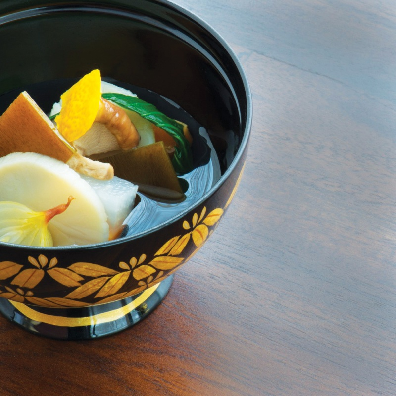 A dish from Zaborin's kaiseki menu
