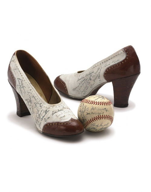 The DiMaggio pumps (Courtesy of Sotheby's)