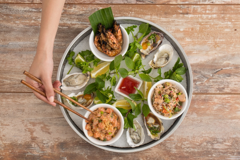 The seafood platter on Limewood's new menu