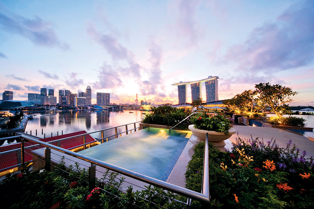 Enjoy Singapore's ever-evolving skyline from the comfort of your own Jacuzzi