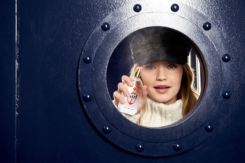 125ab73e The fresh playfulness of the scent is reflected in the campaign, which sees  Hadid holding her own in a group of crisp-suited sailors, ...